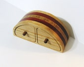 Treasure Box With Secret Drawers Made Of Three Woods
