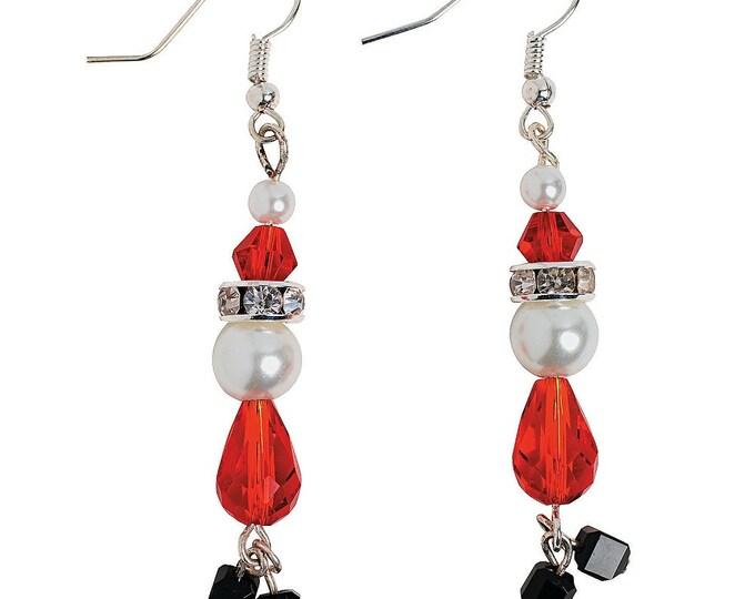 Pearl Santa Earrings