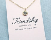 Best Friend Frienship Necklace | Tree of Life Necklace | Tiny Tree Necklace | Best Friend Gift | Charm Necklace | Silver or Gold | F09