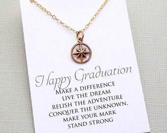 Class of 2017 | Compass Necklace, Graduation Gifts, Graduation Gifts for Her, Student Gift, College Student, High School, Compass Rose | G03