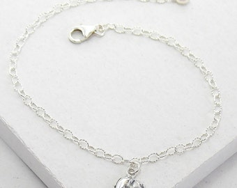 Tiny Elephant Bracelet | Delicate Everyday Bracelet | Stacking Bracelet | Tiny Good Luck Charm | Talisman | Sterling Silver