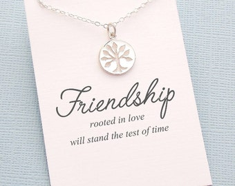 Best Friend Gift | Tree of Life Necklace, Best Friend Necklace, Best Friend, Friendship Necklace, Best Friend, Bestfriend Gift, BFF | F09