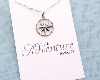 Class of 2017 | Compass Necklace, Graduation Gift, Graduation Gifts for Her, Student Gift, College Student, Globetrotter, Compass Rose | G07