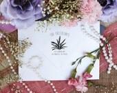 Self inking Custom Return Address Stamp, Cute Stamp with Succulent Design --5430