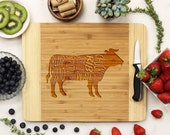 Personalized Cutting board, Custom Engraved Bamboo wood, Kitchen Decor, BBQ Board, Housewarming Gift, Newlywed Gift --22043-CUTB-001