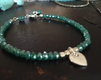 mystic quartz bracelet yoga style boho jewelry sterling silver lotus charm