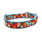"""1"""" Dog Collar Squirrels are Nuts *NEW COLOR* buckle or martingale collar"""
