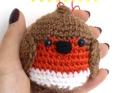 Robin Bauble Crochet Pattern - Robin Christmas Decor Pattern