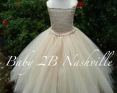 Vintage Dress Champagne D...