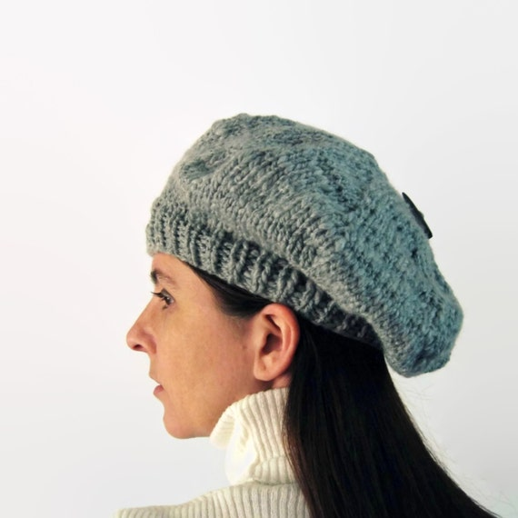 Beret Knitting Pattern Straight Needles : Branda Beret, PDF Knitting Pattern, Knit, Instant Download, Digital Patterns,...