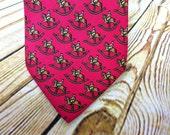 Vintage Necktie - Mens Gift Ideas - Hermes Tie - Rocking Horse - 7373 PA - Fathers Day Gift - Groomsmen Gift - Designer Necktie - Silk Tie