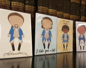 Tomorrow There'll Be More of Us original art magnet set of 4