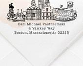 Boston, Massachusetts Custom Return Address Stamp