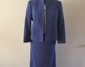 Purple Wool skirt Suit Pendleton Vintage 1980s Sz L/XL