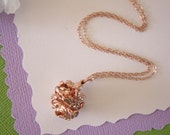 Rose Gold Pinecone Necklace, Gold, Real PineCones, Gold Pine Cones, Redwood, Long Layered Gold Necklace, PC52