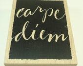 Carpe Diem Wood Mounted Rubber Stamp By Wordsworth S081-R