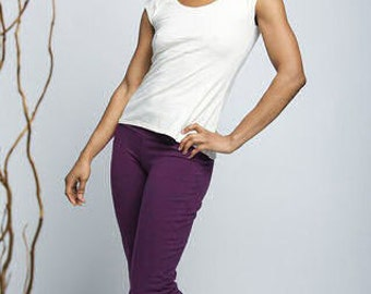 Size M // Ultimate Yoga & Dance Pants // Hemp, Organic Cotton and Lycra // Amazing Fit // Size M (US 8-10)