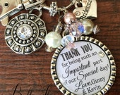 Bridesmaid gift, Maid of honor gift, rehearsal dinner gift, Thank you for being part of our special day, thank you gift, wedding jewelry