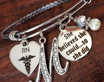 RN gifts, Nurse, Nurse graduation gift, She Believed she could so she did, Nurse Graduate, Class of 2017, RT, PT, Pharmacist, accomplishment
