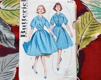"1960s Sewing Pattern / 1960s Dress Pattern / Butterick 9332 / Bust 34"""