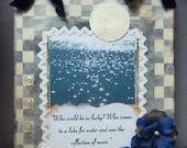 Mixed-Media Plaque Inspirational Rumi Quote