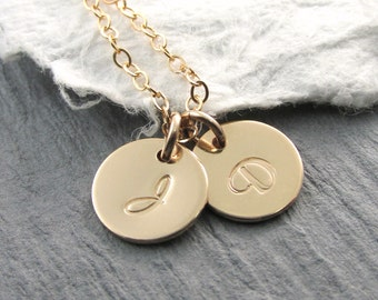 Personalized Necklace Gold Necklace Gold Initial Necklace Mother Necklace Personalized Jewelry Initial Jewelry Bridesmaid Gift