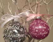 Set of Two Personalised Christmas Bauble