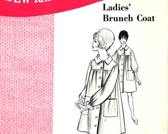 UNCUT Ladies' Brunch Coat Size Small, Medium, Large Sew Knit and Stretch #216
