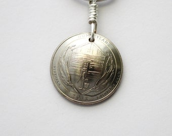 Quarter Coin Keychain U.S. Quarter Key Ring, Homestead, Bombay Hook, Shawnee, Great Smoky Mountains, Shenandoah, Cumberland Gap by Hendywood
