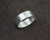 Wide sterling silver band - simple band - wedding band - modern ring - thumb ring - men's ring - unisex - minimalist