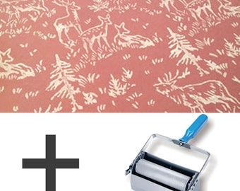 2-Colours Pattern Paint Roller STARTER PACK - Forest Animals