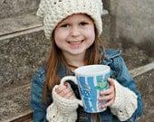 Crochet Pattern, CV135 Chelsea Hat and Gloves, PDF Digital Download