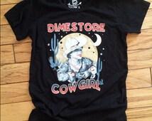 Dimestore Cowgirl Western Dime Store Tee Shirt