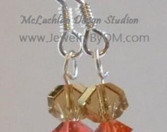 Crystal Sand and Sun Earrings