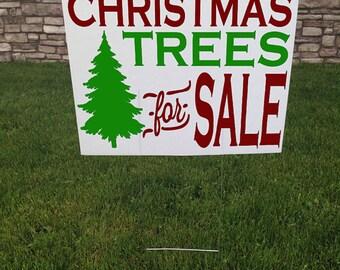 Christmas Trees For Sale Yard Sign, Christmas Yard sign, 24 x 18 Corrugated yard signs, Road Sign, Christmas Trees for sale Yard Stake
