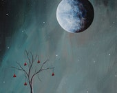 SPECIAL OFFER - surreal paintings, moon paintings, art, surrealism, art, tree, love, heart, abstract sky, original painting, fantasy art