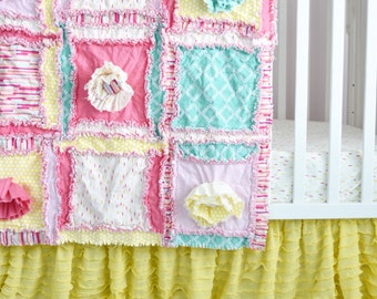 Yellow Crib Skirt - Ruffle Bedskirt Crib Bedding - Baby Crib Skirt - Ruffled Crib Skirt - Crib Skirt Girl - Baby