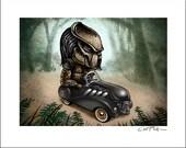 Predator Pedal Car 8 x 10 Signed Print