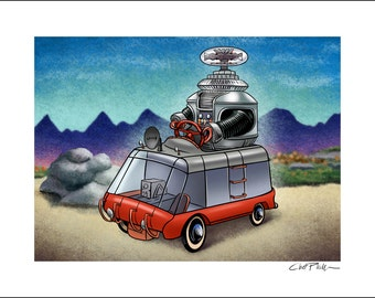 Lost In Space Pedal Car- 11 x 14 Signed Print