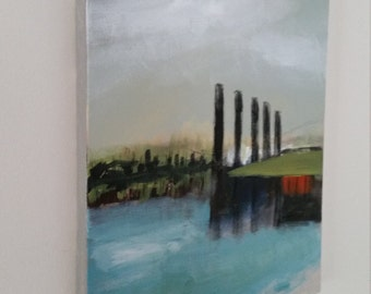 North Channel Abstract Landscape Original Painting on canvas