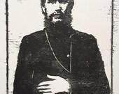 Rasputin Block Print