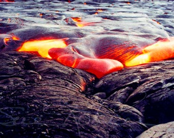 Fine Art Photography Kilauea Volcano Nature Photography Big Island Hawaii Hawaiian Landscape Lava Flow Volcano Photography - Gift for Him