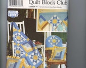 Craft Sewing Pattern Simplicity 9169 Shirley Botsford Quilt Block Club 1 Variable Star and Log Cabin Blocks UNCUT  99