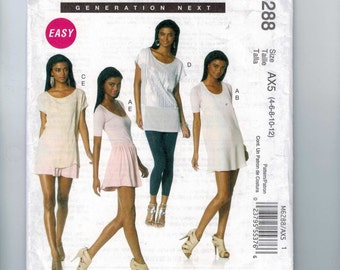 Misses Sewing Pattern McCalls M6288 Misses Easy Tops Dress and Skirt Size 4 6 8 10 12 14 16 18 UNCUT