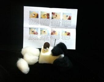 Black and White Sheep- Needle Felting Kit