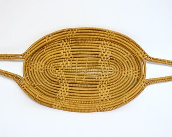 Coiled Basket Tray with Handles