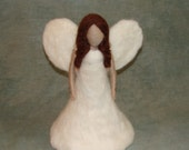 Needle Felted Angel Tree Topper - Wool Waldorf Inspired