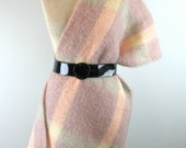Vintage 70s Mohair Blanket Scarf Wrap by Montrose pinks and greys