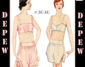 Vintage Sewing Pattern Reproduction 1920's Bandeau Bra and Step-Ins Multi-Size #2030 - INSTANT DOWNLOAD