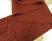 burnt orange: handwoven scarf